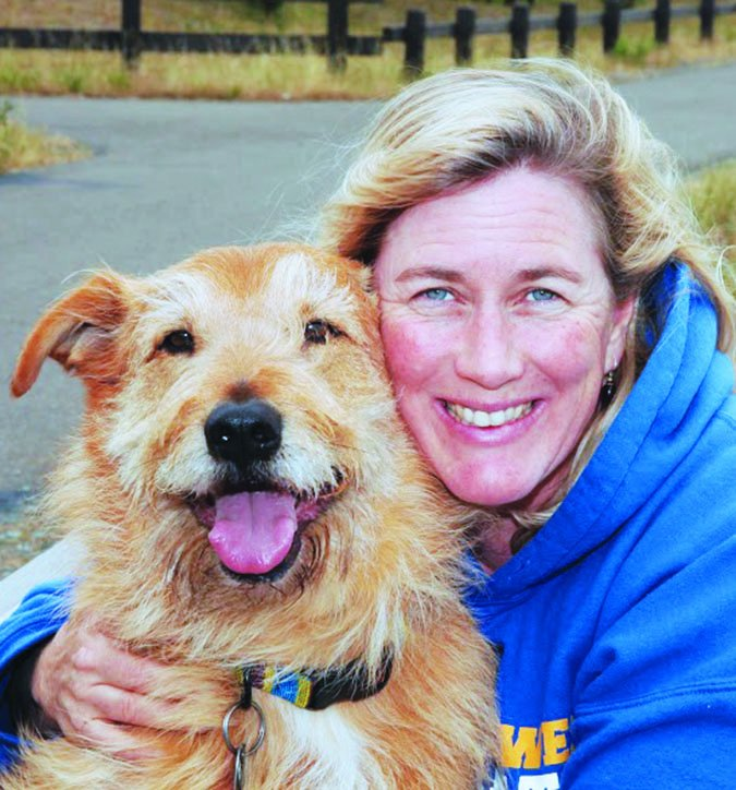 Whole Dog Journal editor Nancy Kerns and Otto
