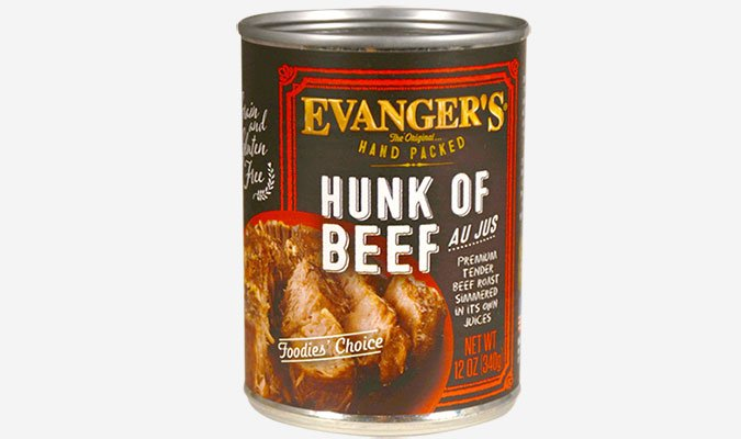 Evangers hunk of beef dog food