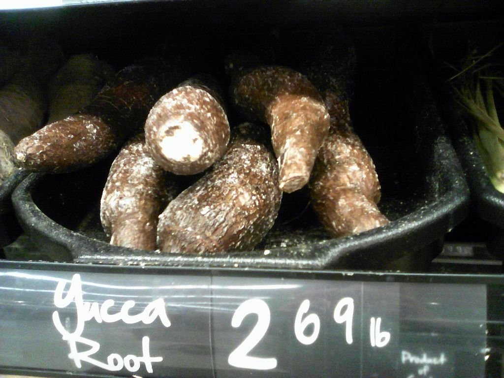 yucca root for sale at market