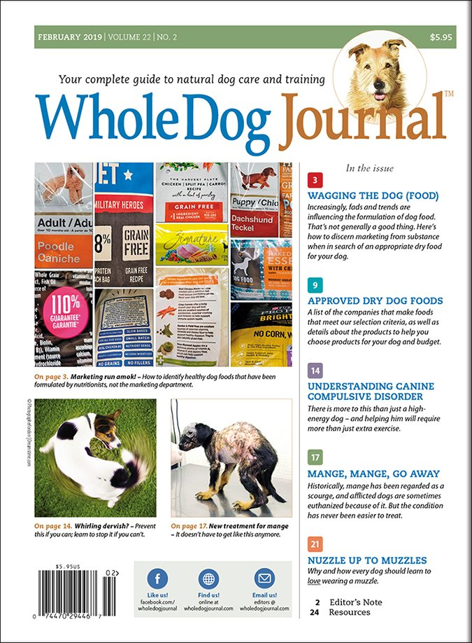 whole dog journal 2019 dry dog food list