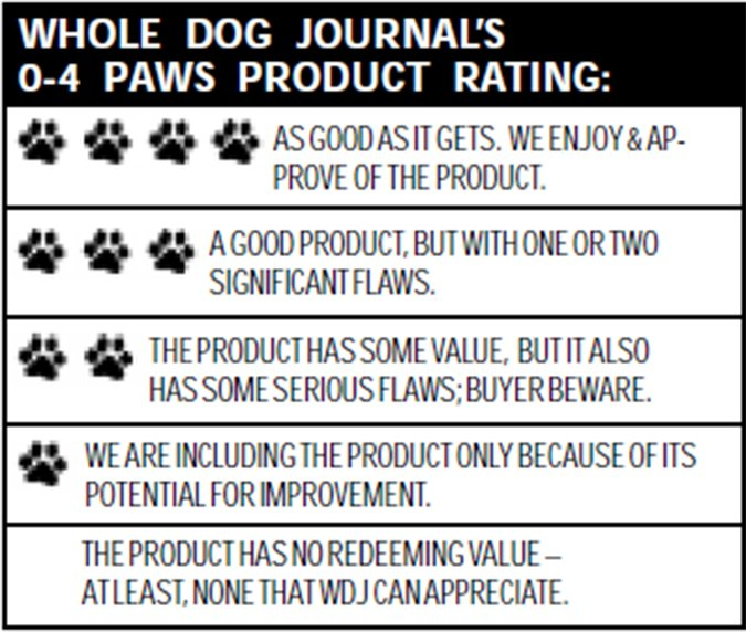whole dog journal rating scale