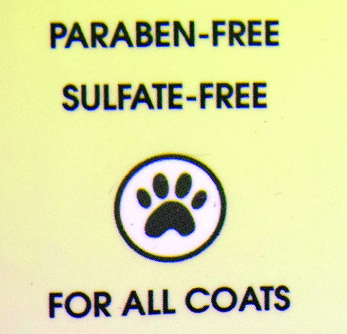 dog shampoo label