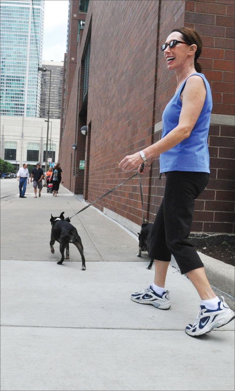dog exercising